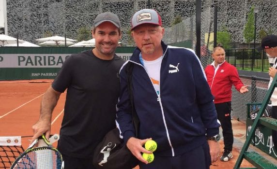 Jaymon Crabb and Boris Becker