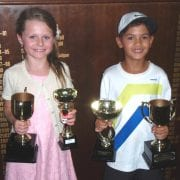 8s champions Ruby Thompson and Miles Phijidvjan