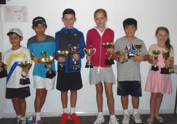 (From left) Miles Phijidvjan, Isaac Chen, Thomas Garrett, Abby Latimer, Leroy Sze and Ruby Thompson